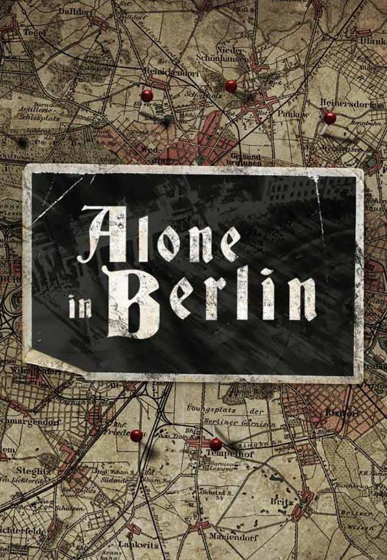 Alone in Berlin Poster #1