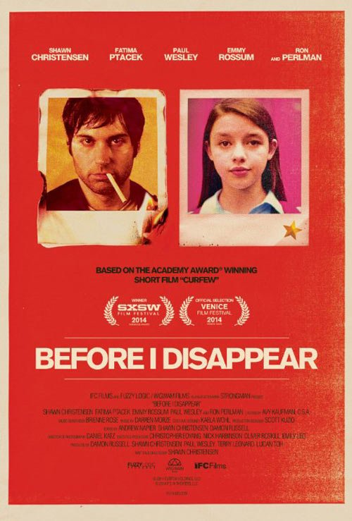 Before I Disappear Poster #1