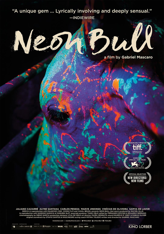 Neon Bull Poster #1