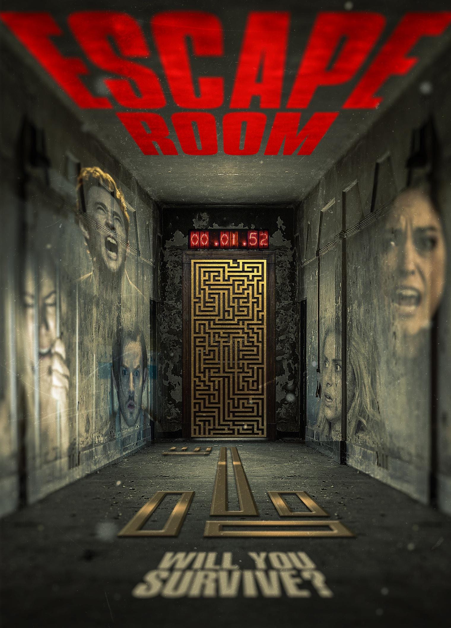 Escape room 2017 poster 1 trailer addict for Escape room concept