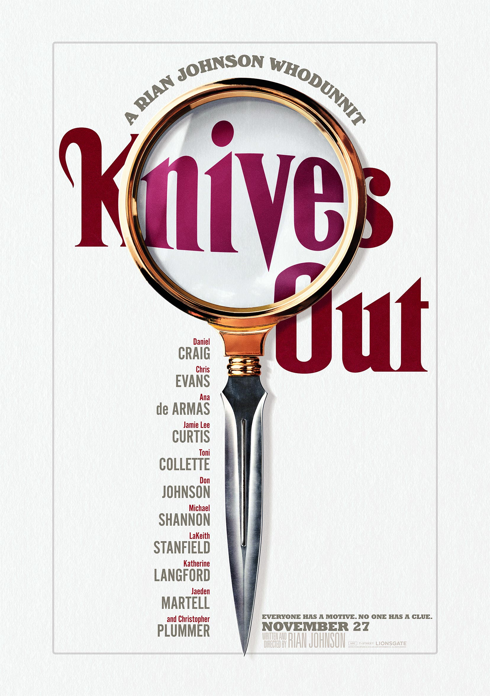 Knives Out Poster #1