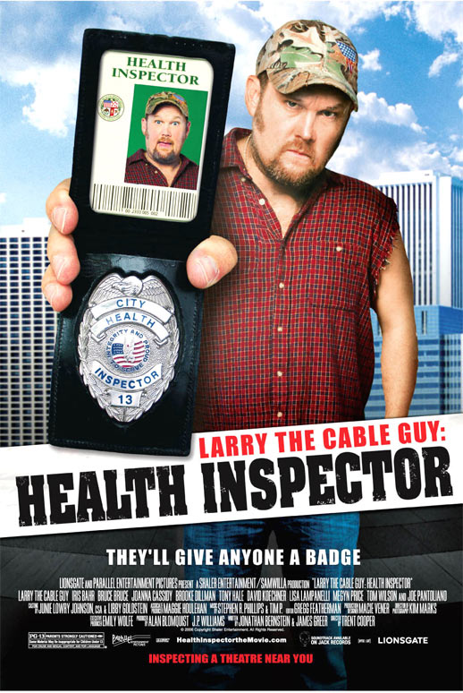 Larry the Cable Guy: Health Inspector Poster #1