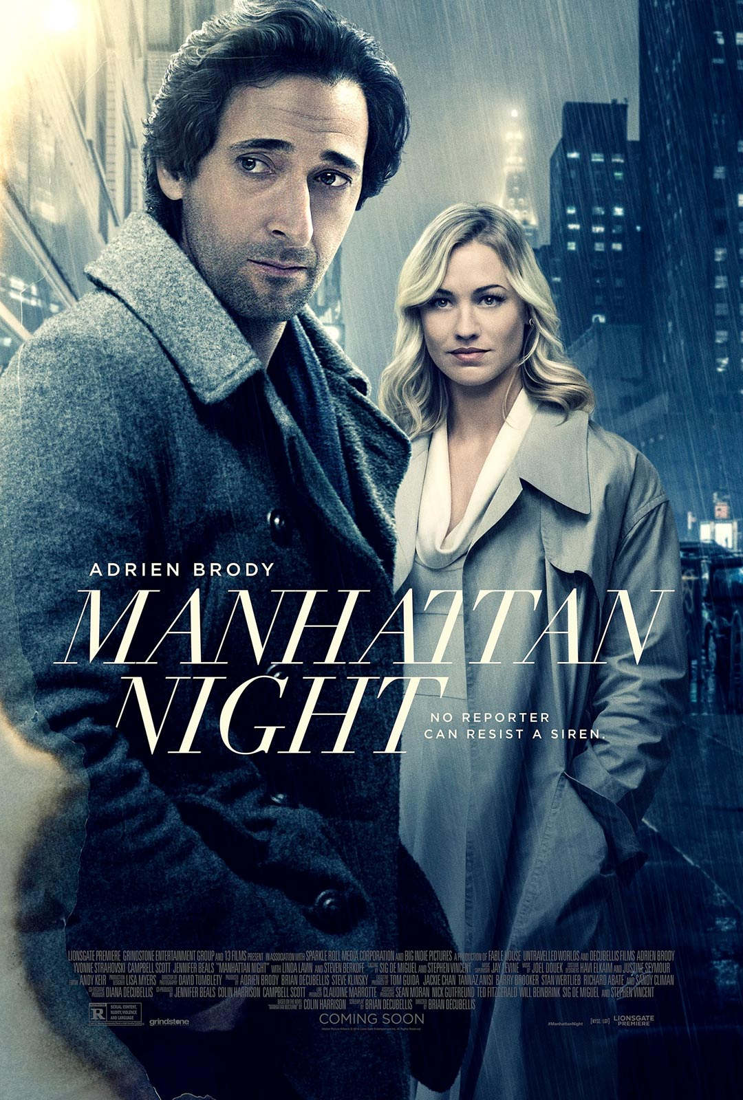 Manhattan Night Poster #1