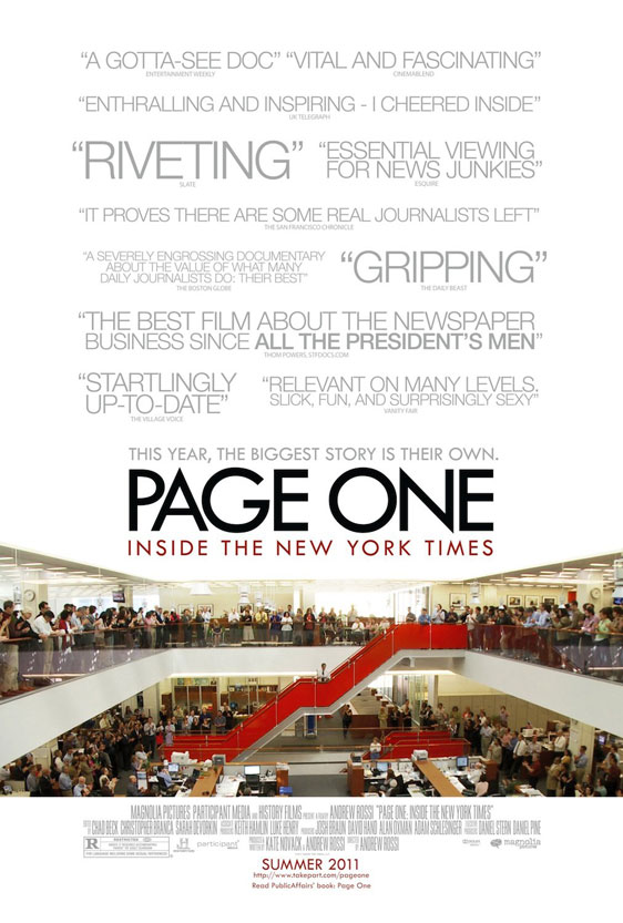 Page One: A Year Inside the New York Times Poster #2