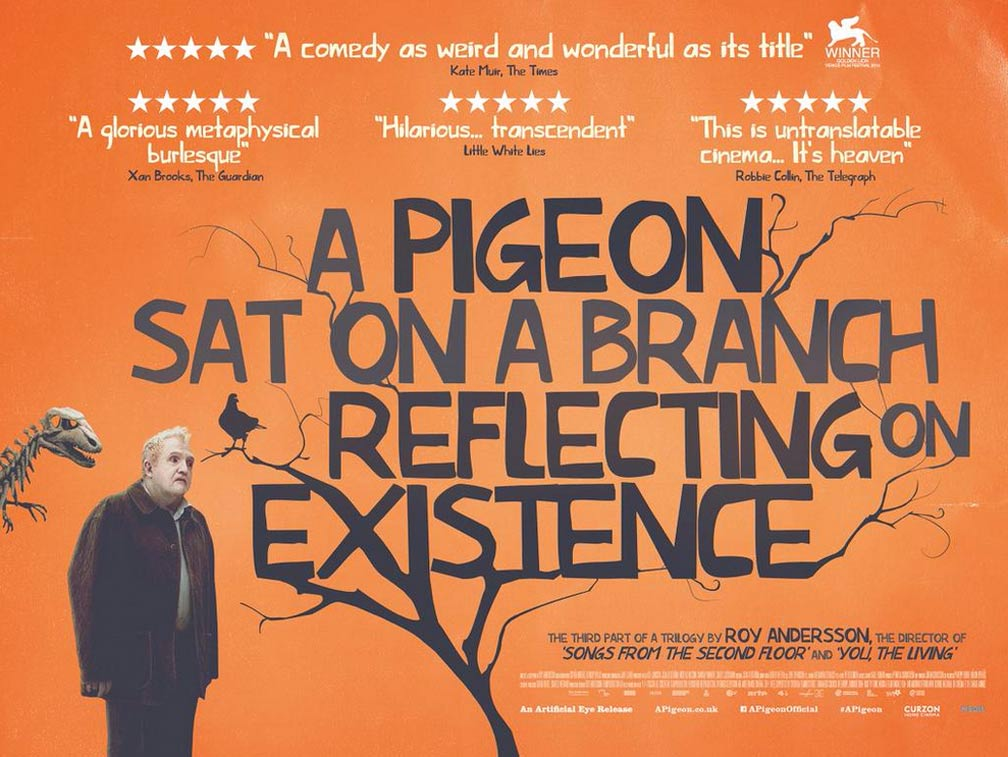A Pigeon Sat on a Branch Reflecting on Existence Poster #1