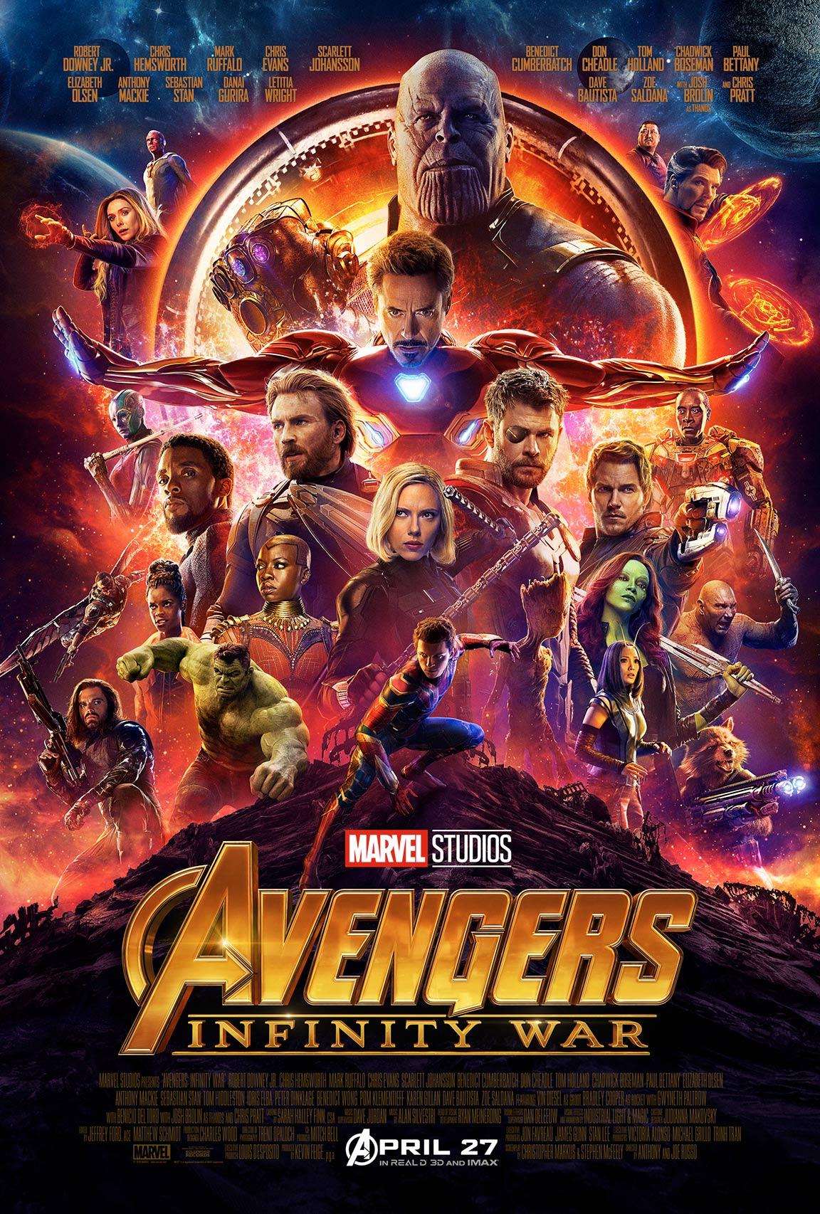avengers infinity war 2018 poster 4 trailer addict