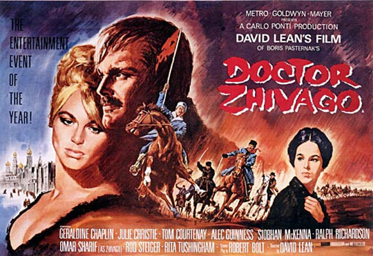Image result for doctor zhivago 1965 movie poster