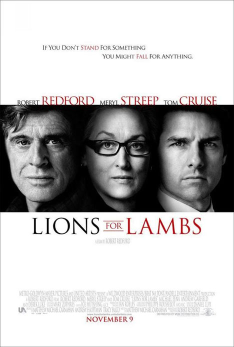 Lions for Lambs Poster #1