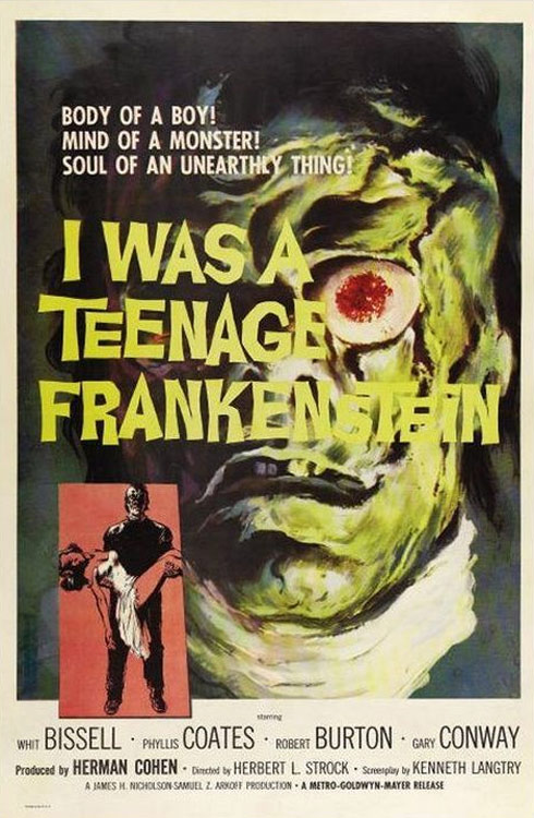 I Was a Teenage Frankenstein Poster #1