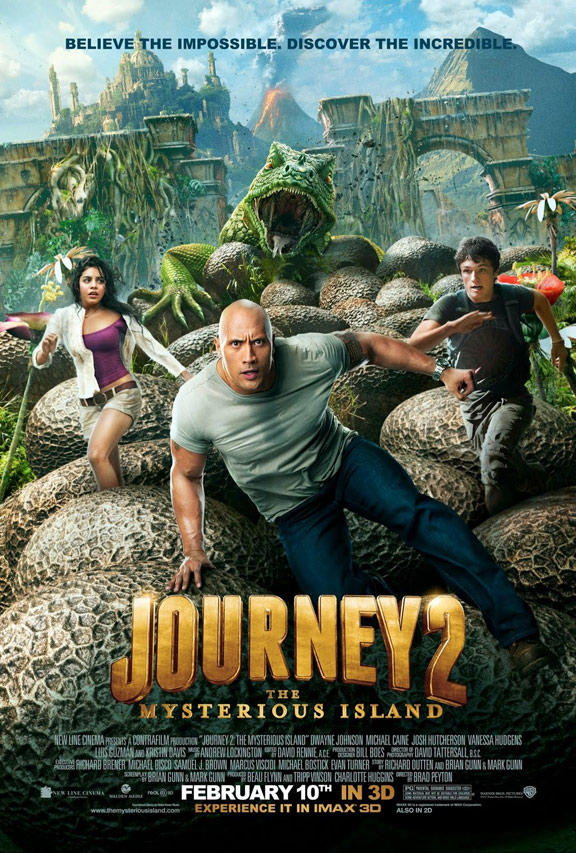 Journey 2: The Mysterious Island Poster #1