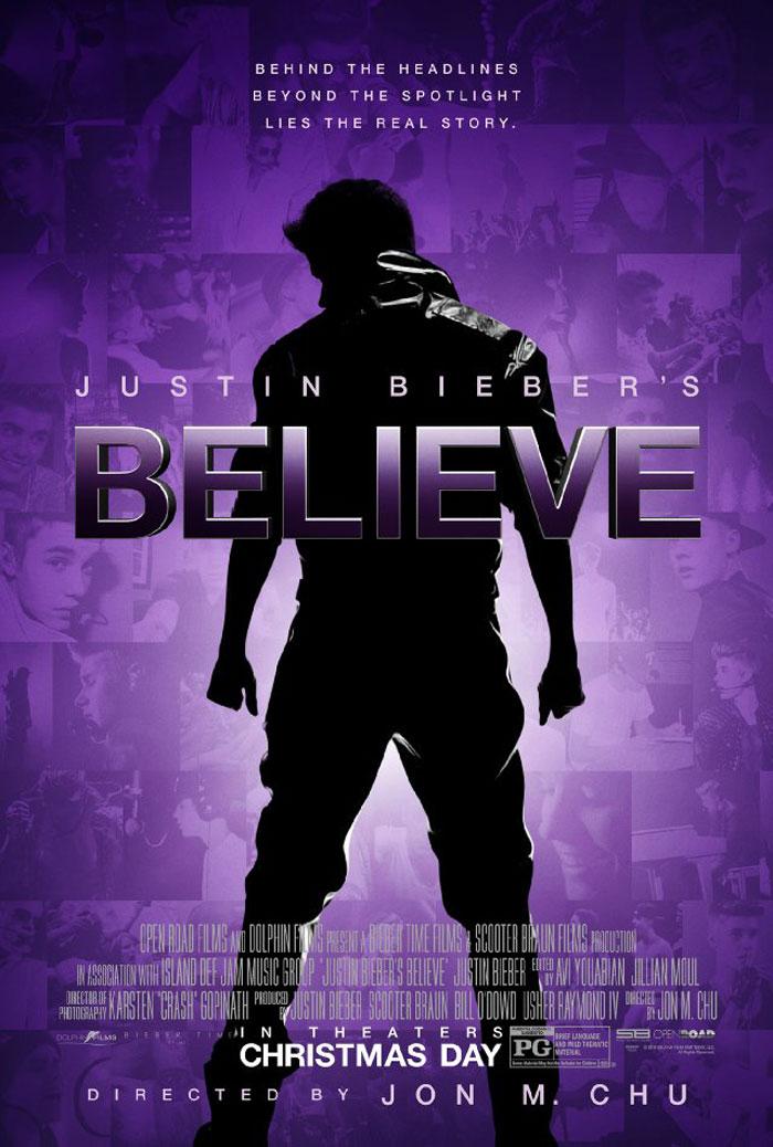 Justin Bieber's Believe Poster #1