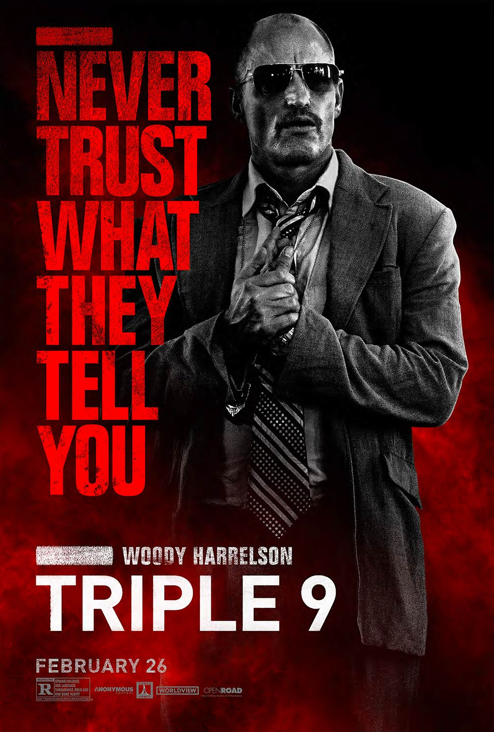 triple 9 2016 poster 3 trailer addict