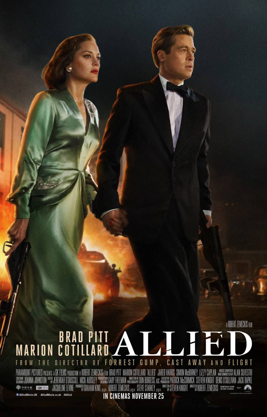 allied 2016 poster 1 trailer addict