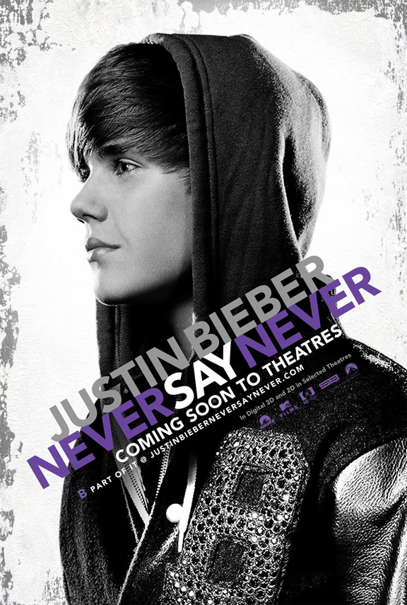 Justin Bieber: Never Say Never Poster #1