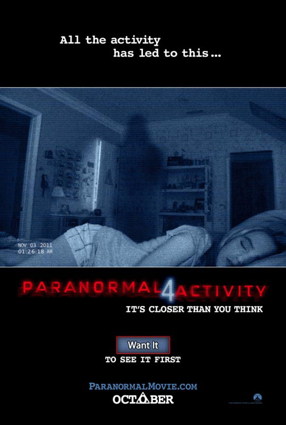 Paranormal Activity 4 Poster #1