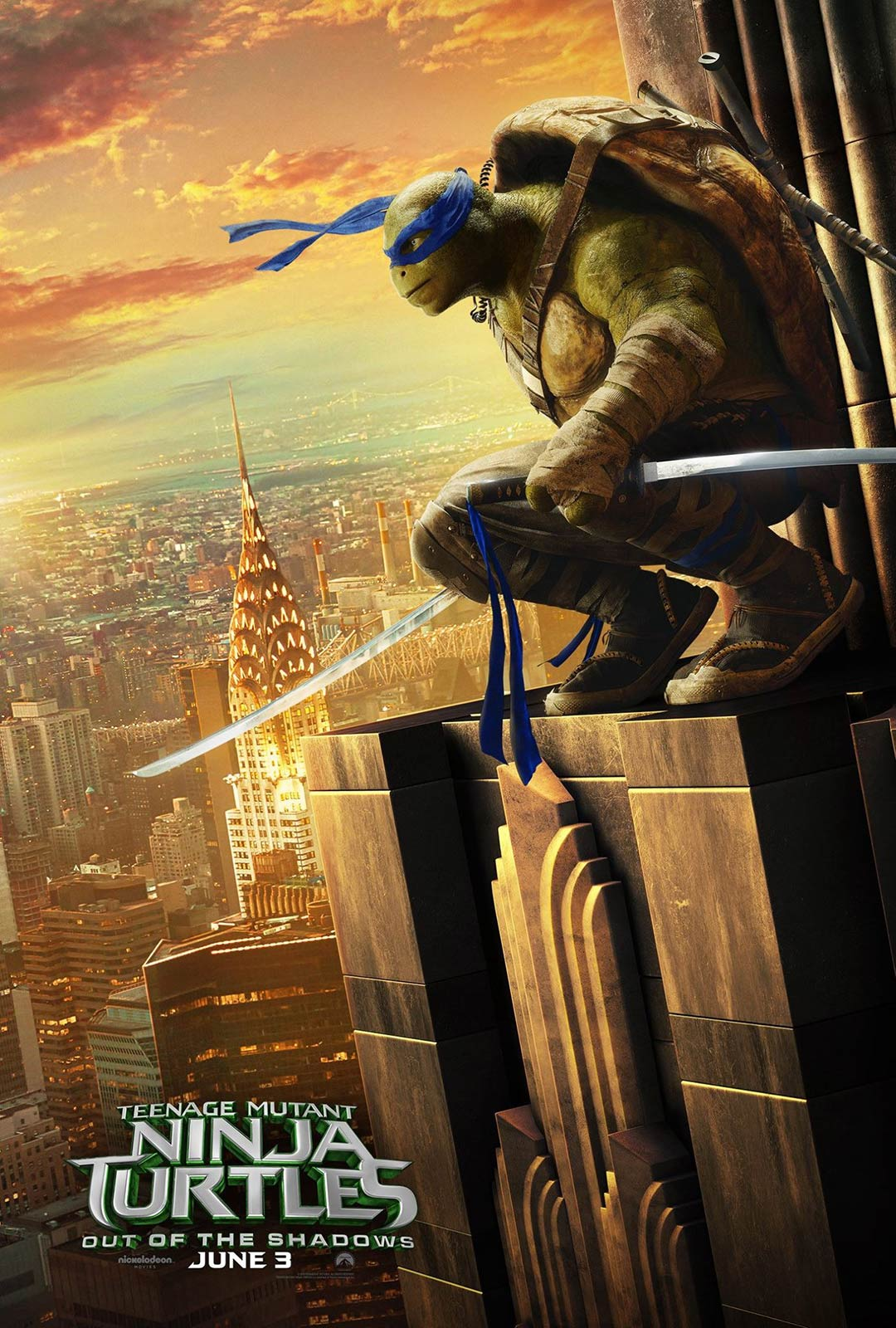 Teenage Mutant Ninja Turtles Out Of The Shadows 2016 Poster 3 Trailer Addict