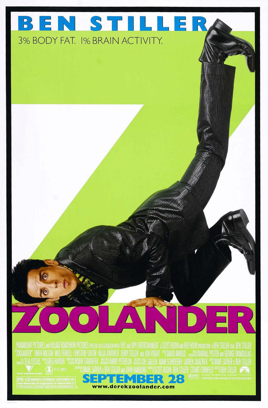 Zoolander Poster #1