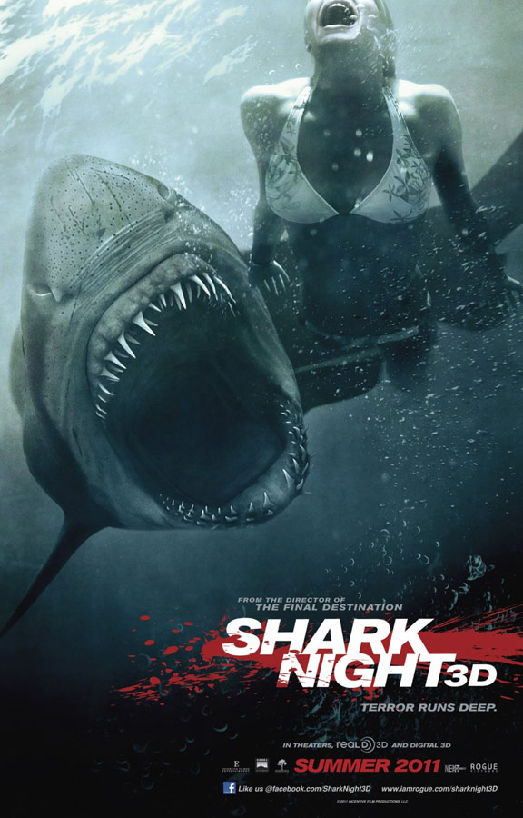 Shark Night 3D Poster #1