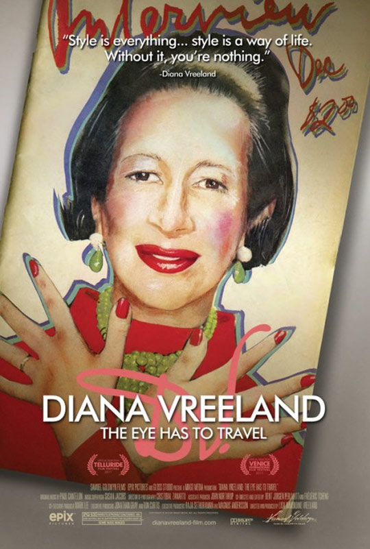 Diana Vreeland: The Eye Has to Travel Poster #1