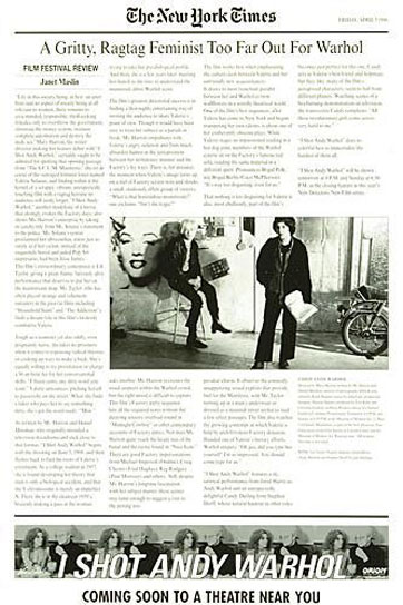 I Shot Andy Warhol Poster #3