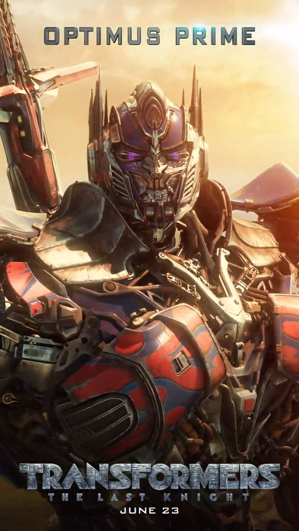Transformers: The Last Knight Motion Poster - Optimus Prime (2017)