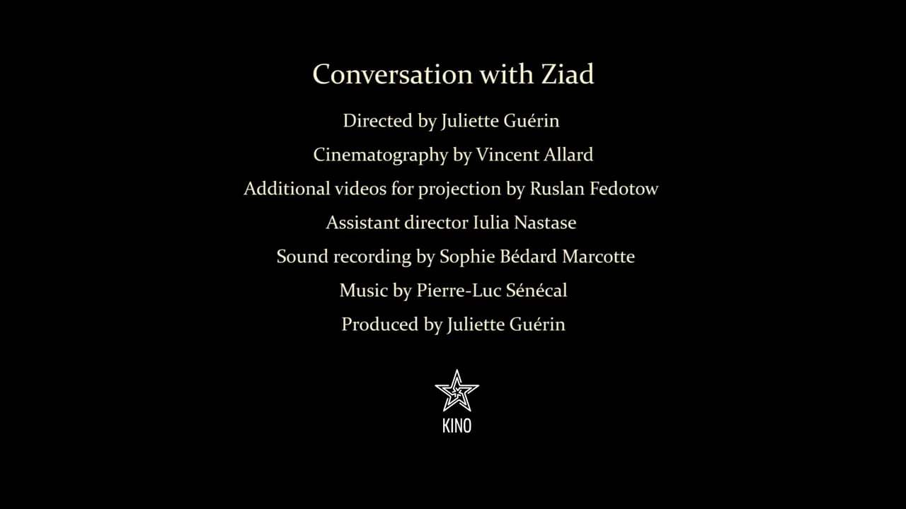 Conversation with Ziad Trailer (2017)