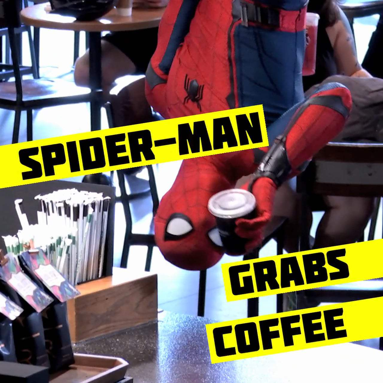 Spider-Man: Homecoming Viral - New York City Starbucks (2017)
