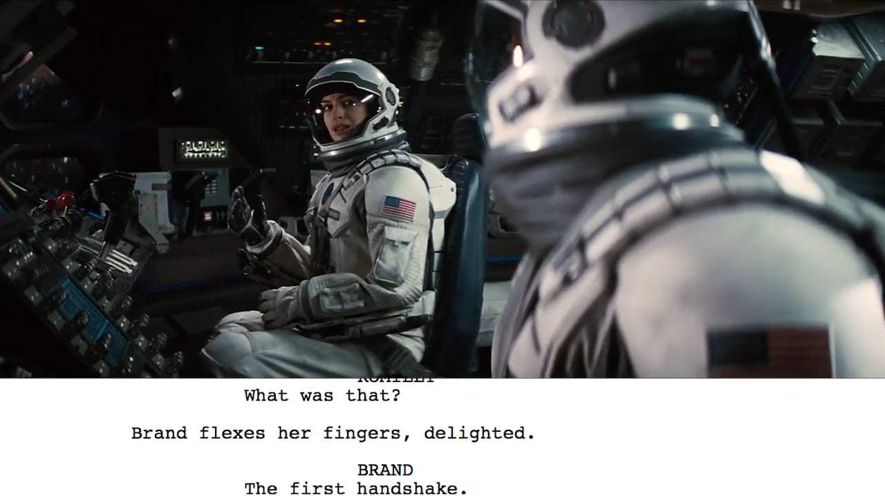 Interstellar Featurette - From Script to Screen: Dr. Brand First Handshake (2014)