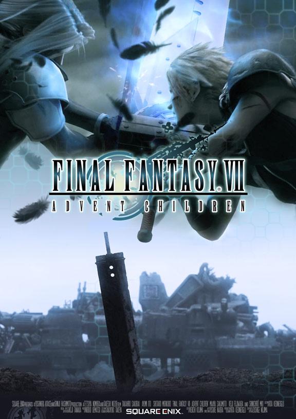 final fantasy vii  advent children  2005  poster  1