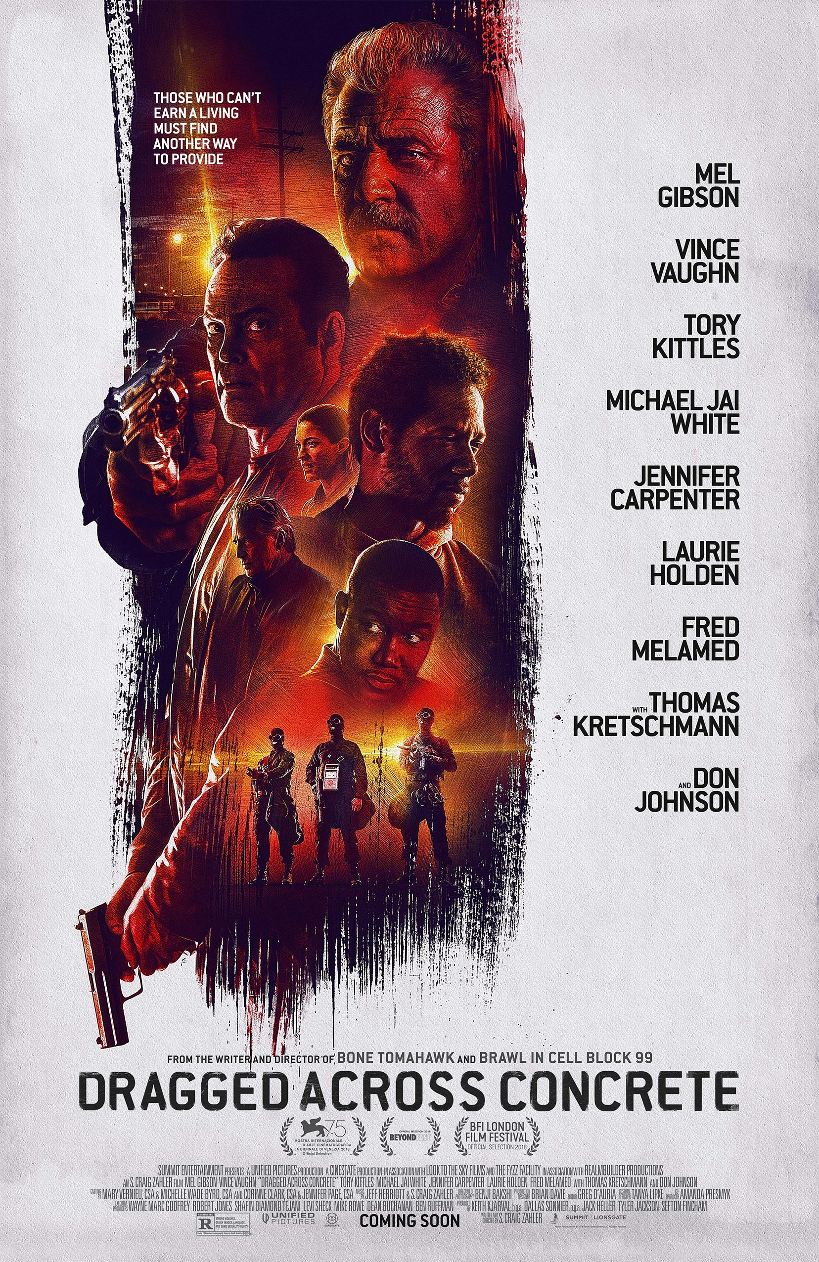 Dragged Across Concrete Poster #1