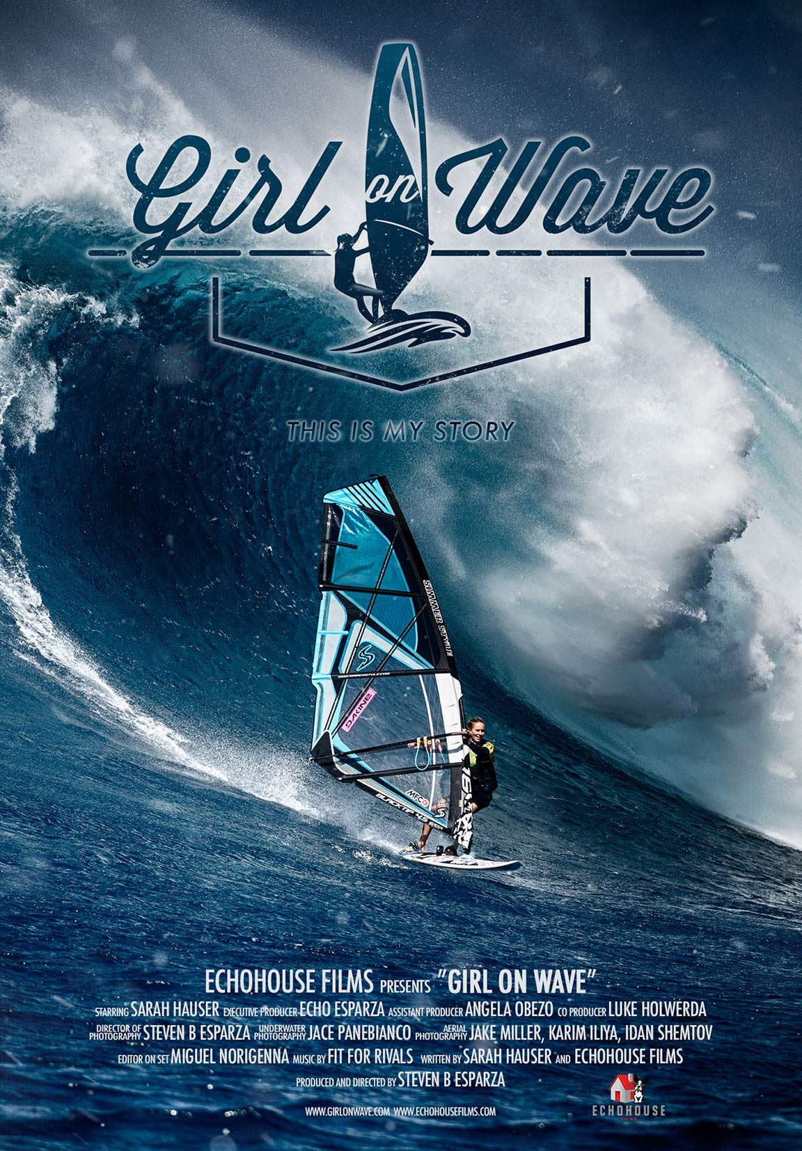 Girl on Wave Poster #1