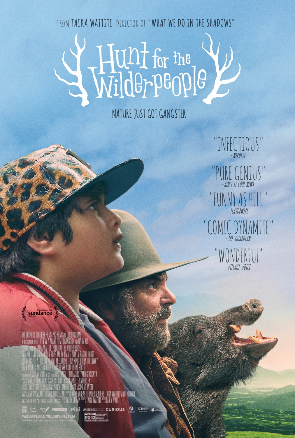 Image result for hunt for the wilderpeople film poster