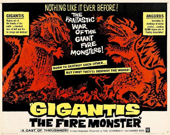 Gigantis, the Fire Monster (Gojira no gyakushû) Poster #2