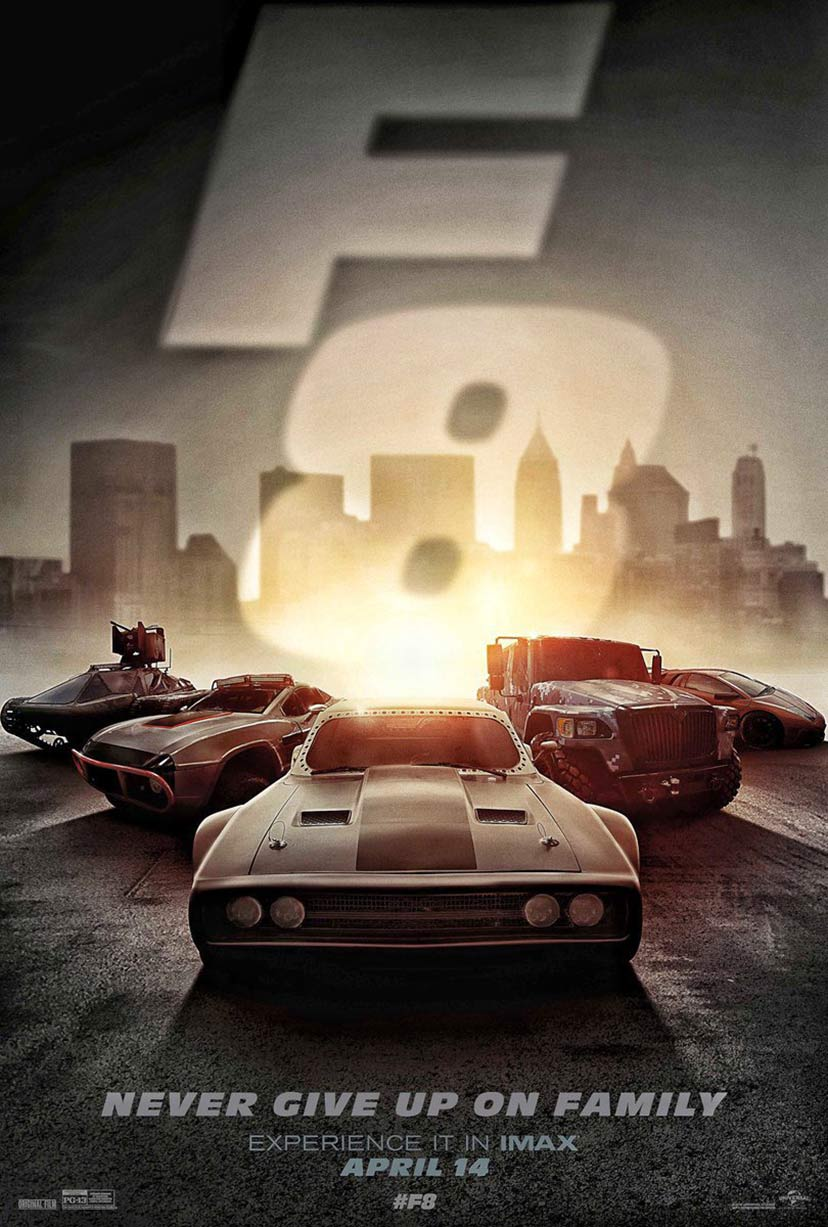the fate of the furious 2017 poster 1 trailer addict. Black Bedroom Furniture Sets. Home Design Ideas