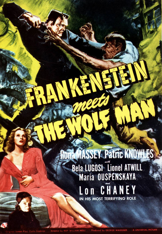 Frankenstein Meets the Wolf Man Poster #1