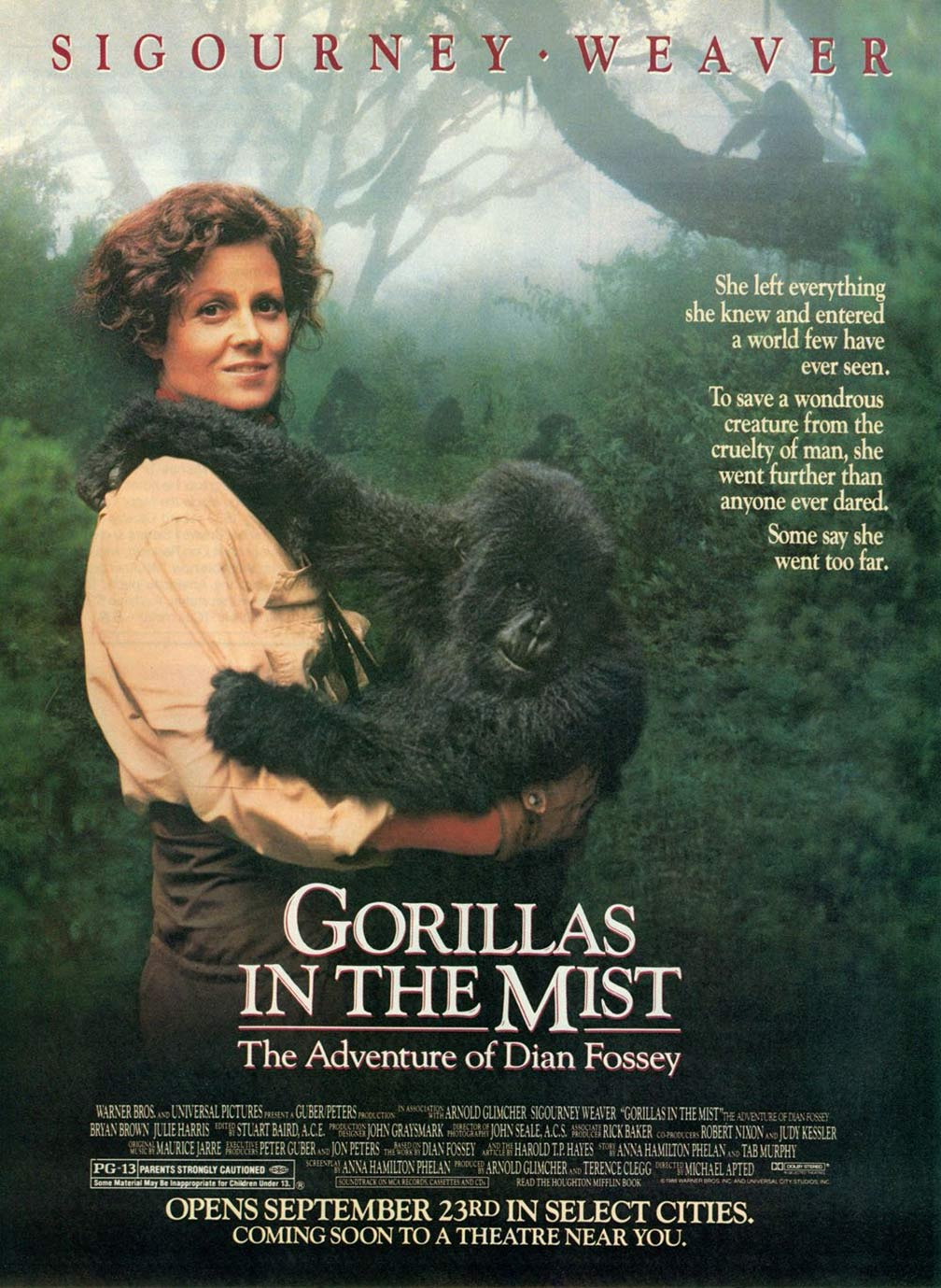 Gorillas in the Mist Poster #1