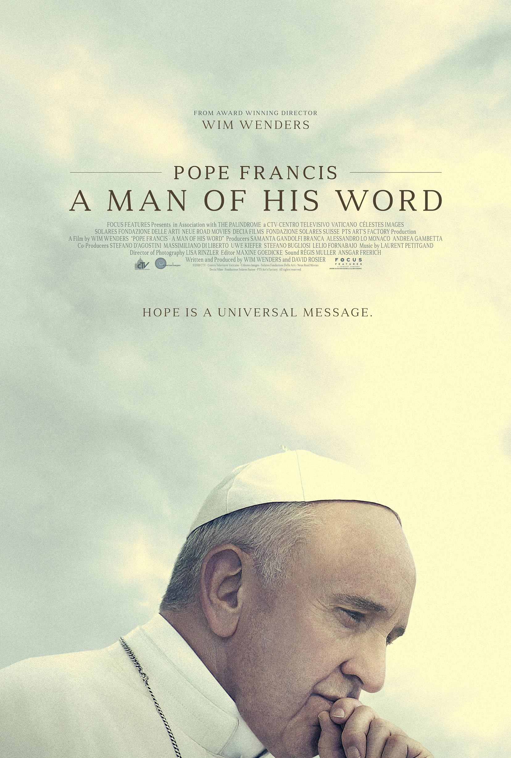 Pope Francis: A Man of His Word Poster #1