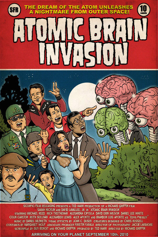 Atomic Brain Invasion Poster #1