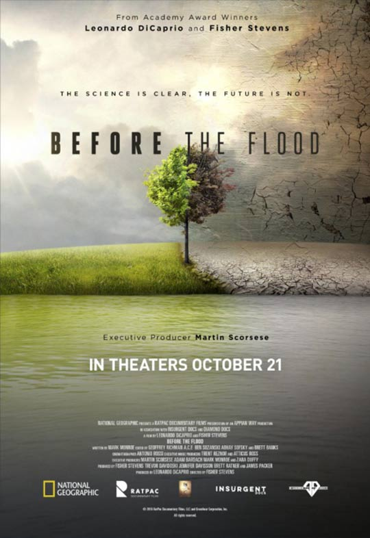 Image result for before the flood poster