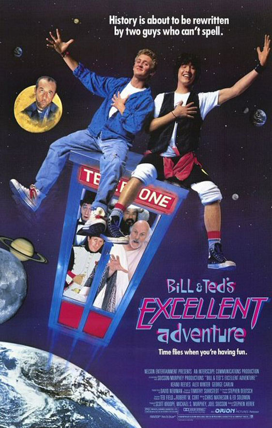 Bill & Ted's Excellent Adventure Poster #1