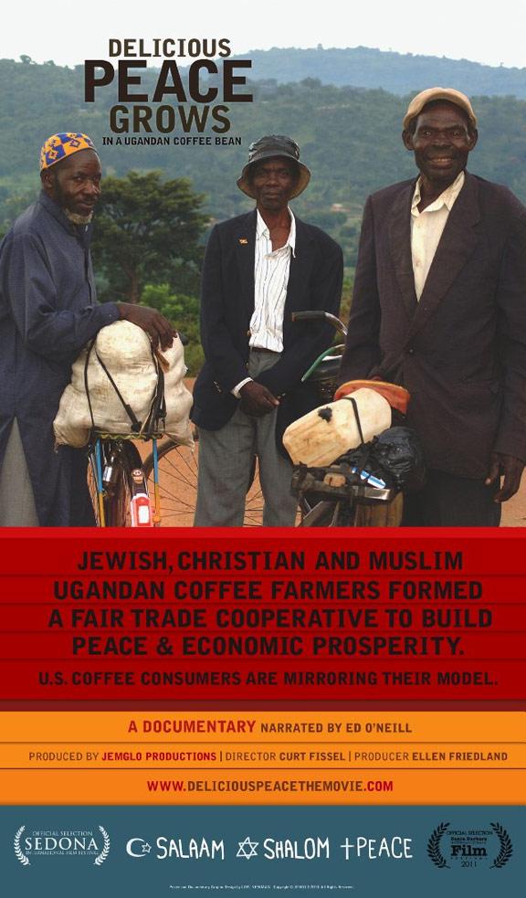 Delicious Peace Grows In A Ugandan Coffee Bean Poster #1