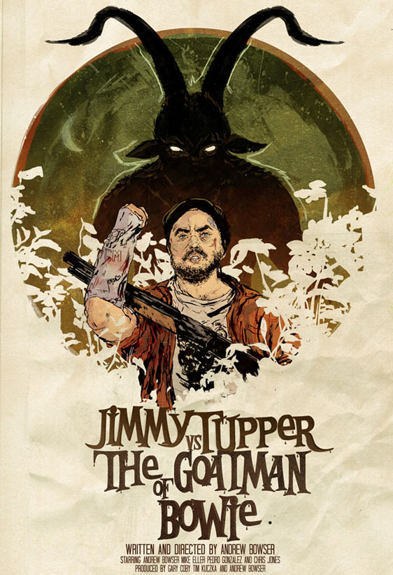 Jimmy Tupper vs The Goatman of Bowie Poster #1