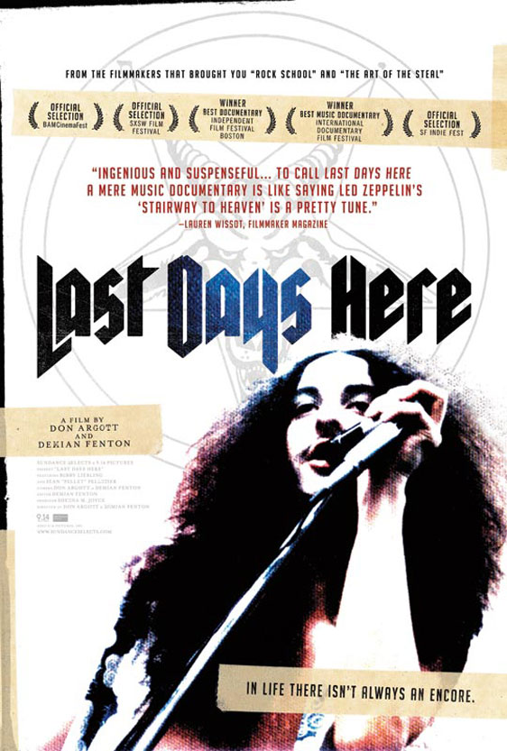 Last Days Here Poster #1