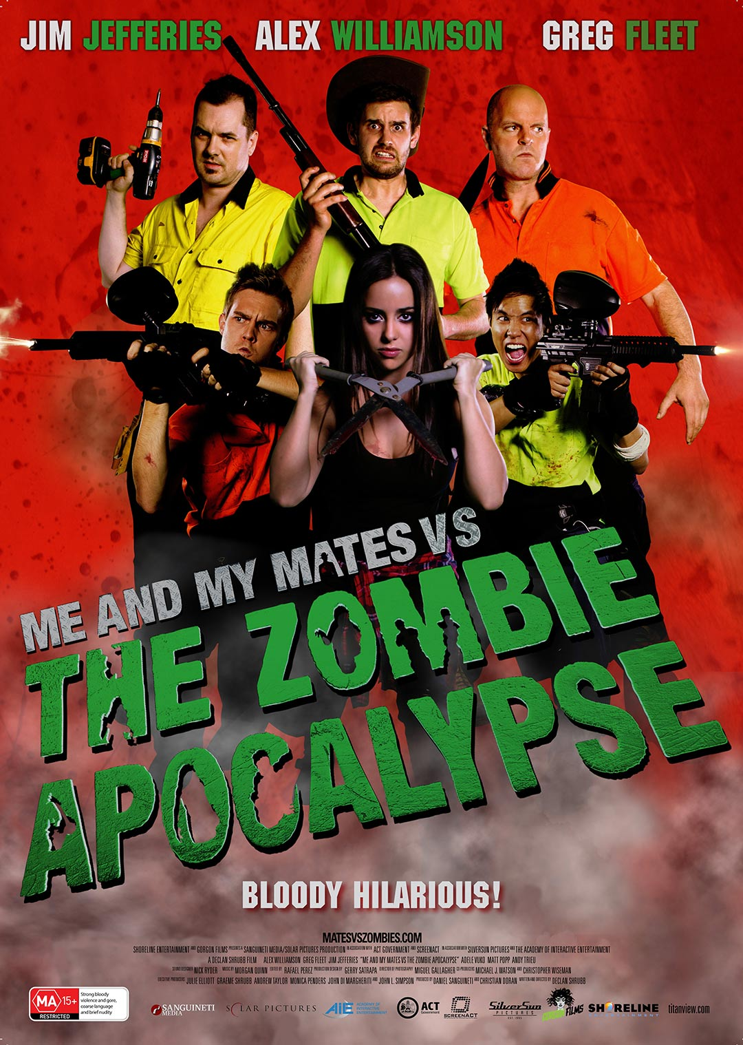 Me and My Mates vs. The Zombie Apocalypse Poster #1