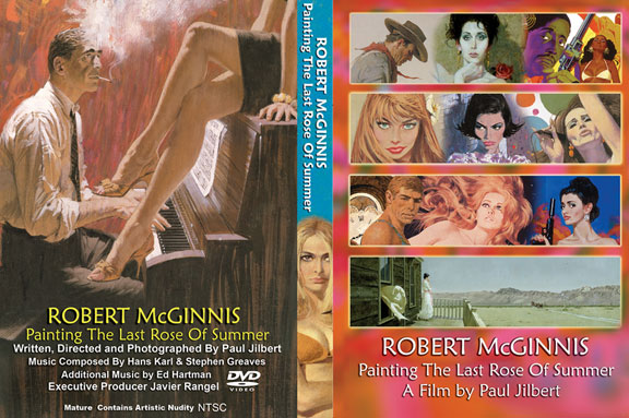 Robert McGinnis Painting the Last Rose Of Summer Poster #1