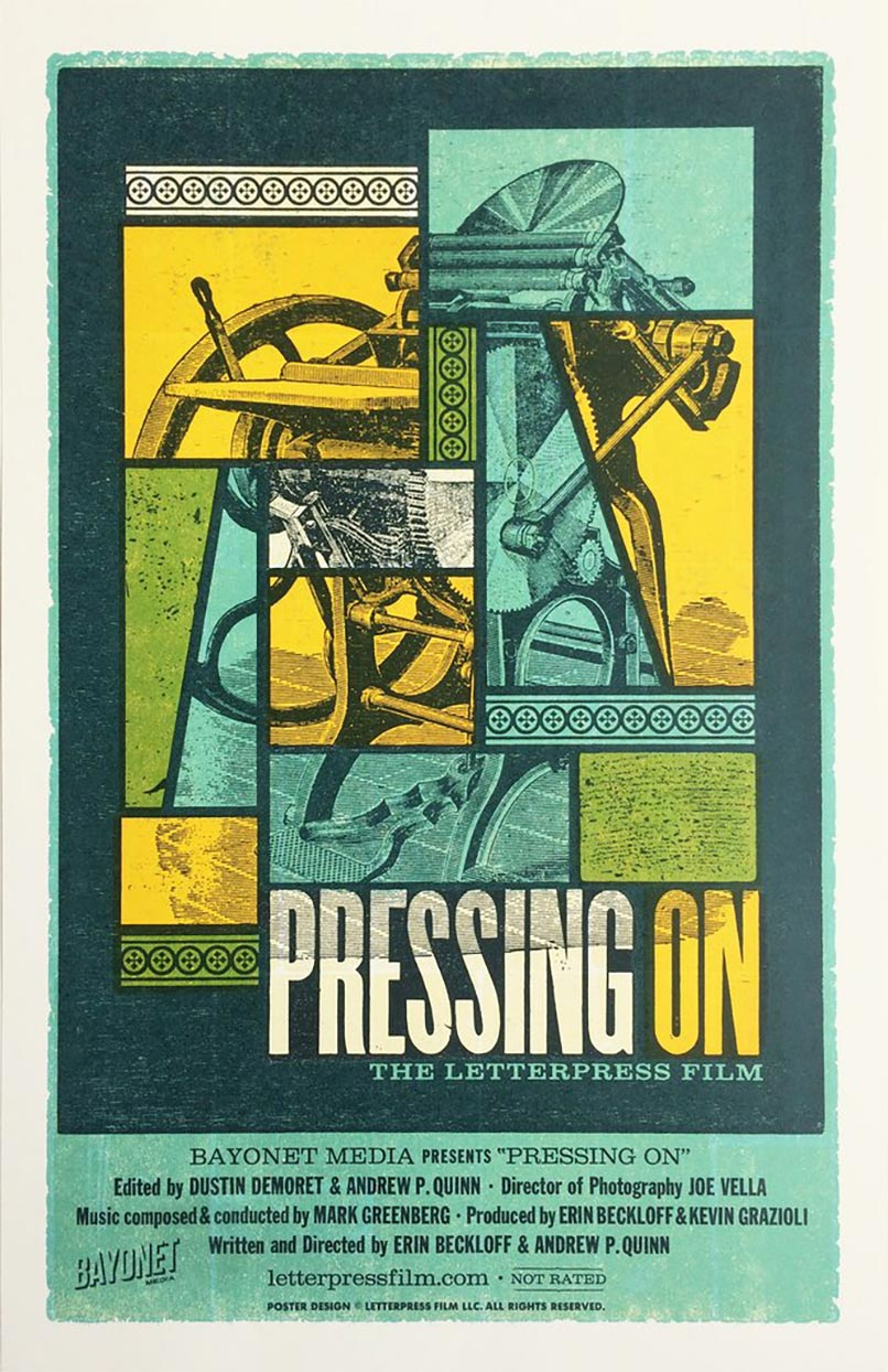 Pressing On: The Letterpress Film Poster #1