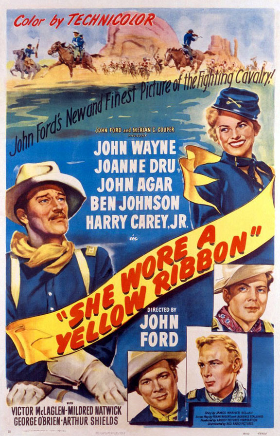 She Wore a Yellow Ribbon Poster #1