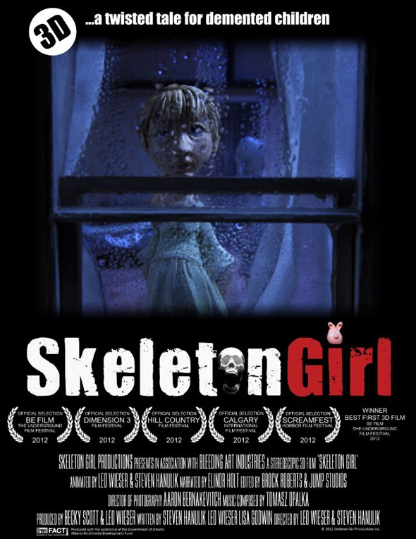 Skeleton Girl Poster #1