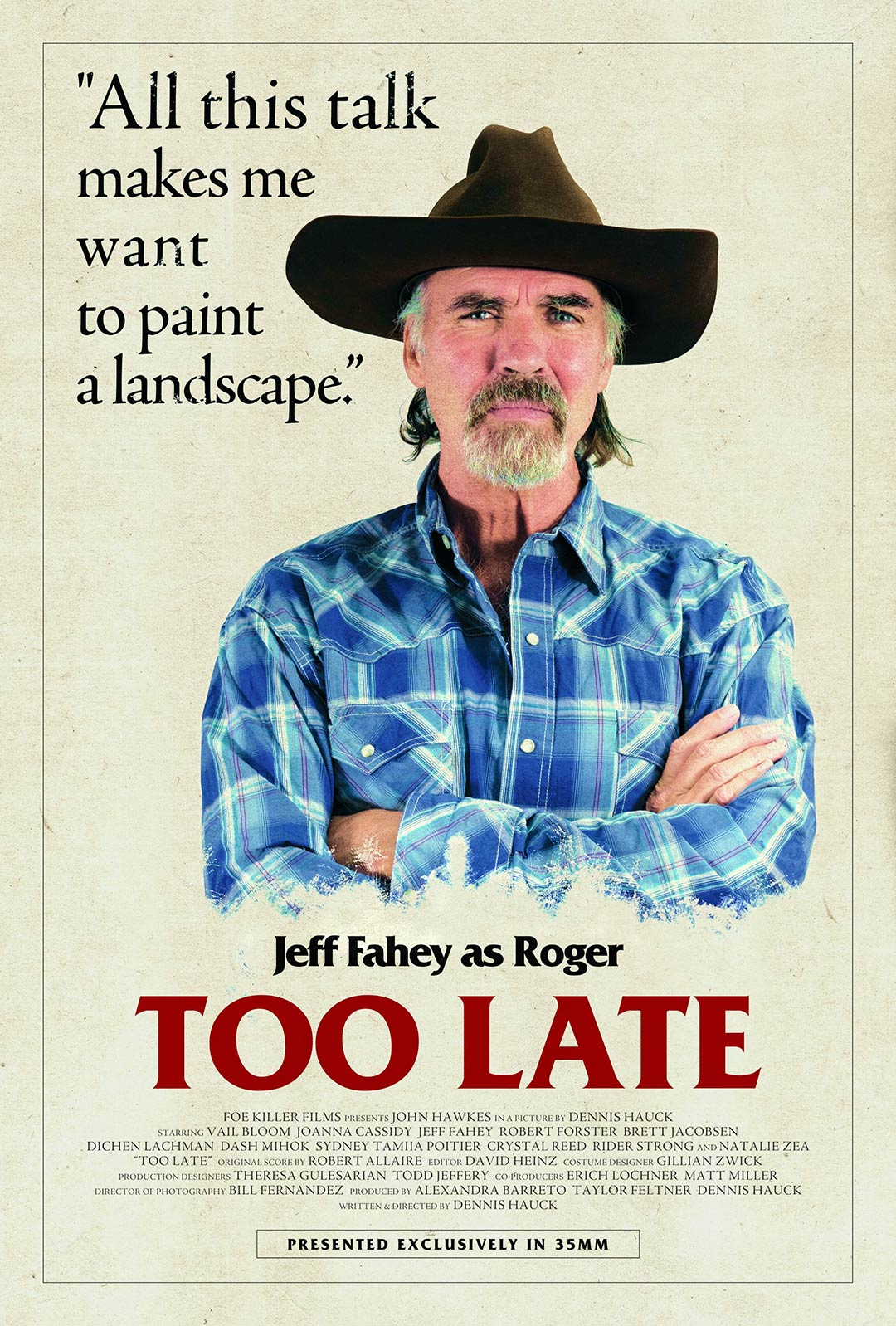 Too Late Poster #4