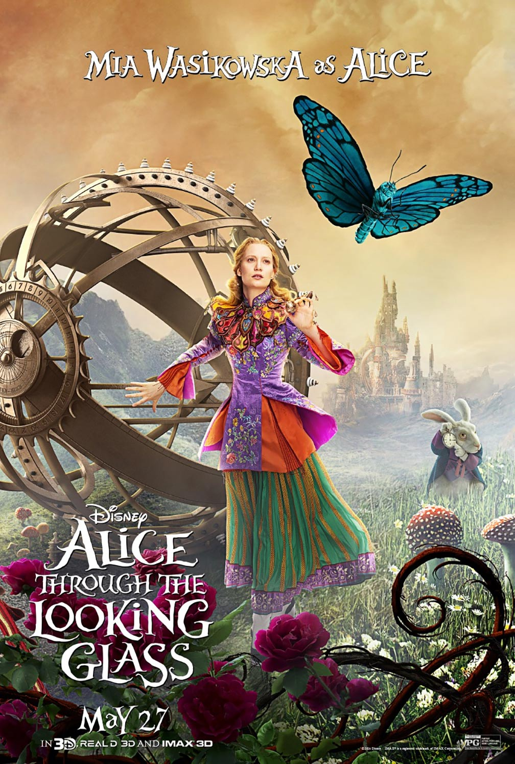 Alice Through The Looking Glass 2016 Poster 1 - Trailer -6523